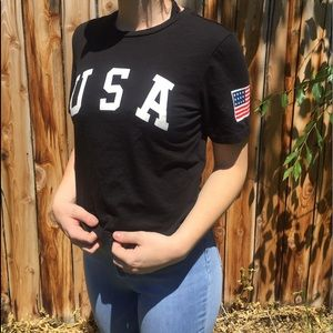black USA t shirt
